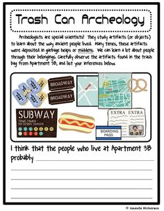 Here's a nice idea for an inferencing lesson. This could be used in social studies or science.