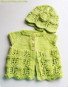Stitchlogue Blog: handmade by Calista: Free Knitting Pattern: Lily's Cardigan