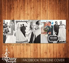 Wedding Facebook timeline cover template photo collage - Photoshop Template Instant Download - BUY 1 GET 1 FREE: fc356 by DonyDesigns on Etsy