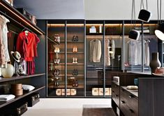 Explore the best of luxury closet design in a selection curated by Boca do Lobo to inspire interior designers looking to finish their projects. Discover unique walk-in closet setups by the best furniture makers out there Glass Wardrobe, Wardrobe Closet, Master Closet, Closet Space, Wardrobe Ideas, Walking Closet, Ideas Armario, Dressing Room Closet, Dressing Rooms