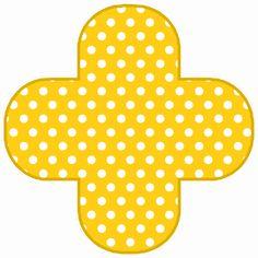 Montando minha festa: Poá amarelo e verde