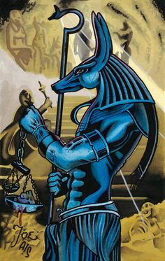A personal favorite from my Etsy shop https://www.etsy.com/listing/399868277/anubis-egyptian-god