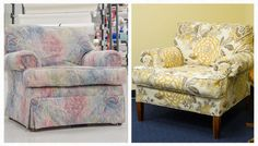 What a difference new upholstery makes! Learn how to reupholster an armchair step-by-step with Sailrite.