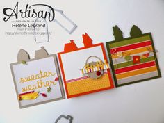 "Stamp 2 LiNotte: Cartes esprit Pop Up ""Comme chez nous"" - Stampin'Up ! Artisan Blog Hop - Octobre # 1"