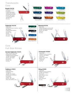 Wenger Swiss Army Knife Catalog Page 2002 - 2003 Wenger Swiss Army Knife, Cool Knives, Catalog, Pocket Knives, Knives, Brochures