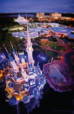 Bird's eye view of Cinderella Castle