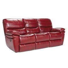 Lazy Boy Sofa Stratton Red Leather Reclining Sofa Furniture