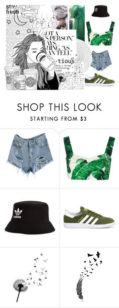 """☮ I WANNA BE YOUR DEAL OF HAPPINESS ☮"" by softer-grunge ❤ liked on Polyvore featuring Dolce&Gabbana, adidas Originals and adidas"
