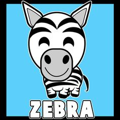 Today we will show you how to draw a simple cartoon Zebra. If you can draw basic shapes, letters, and numbers, then this drawing tutorial will be easy for you. This is a great step-by-step lesson for younger kids as well.