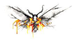 Moth Weird Art, Moth, Watercolor, Wednesday, Artist, Painting, Animals, Animales, Watercolor Painting