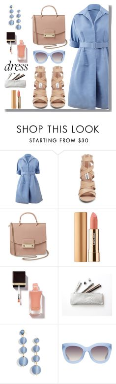 """Throw-And-Go Dress"" by drigomes ❤ liked on Polyvore featuring Catherine Regehr, Steve Madden, Furla, Axiology, BaubleBar and Alice + Olivia"