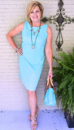 50 IS NOT OLD | WEAR ON A DATE | Dress | Tiffany Blue | Date Outfit | Fashion over 40 for the everyday woman #dress #tiffany #plunderjewelry #dooney&bourke