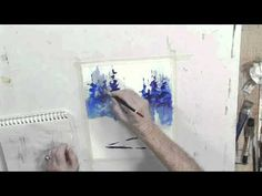 How to Paint a Winter Woods Scene in Watercolors, Part 2