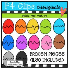 FREE FOR YOU ... FUN for your class!Mix them and match them up !!! 12 colors and b/w also included!This clip art set includes 54 images. There are 36 vibrant coloured images and 18 black and white images.If you like this set I'd love to have your feedback for my shop.
