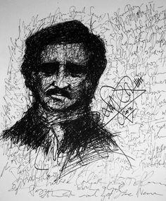 Portrait of Edgar Allan Poe by Ville Valo