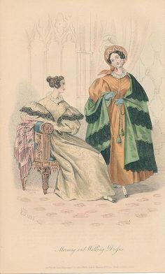 January, 1834 - Morning and Walking Dresses - Court Magazine