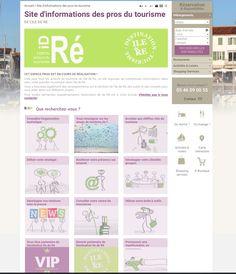 PROJET WEB Site pros destiné aux acteurs du tourisme de l'Ile de Ré (page d'accueil) - MA MISSION : Chef de projet (Veille - Elaboration de l'arborescence - Recherche de contenu - Mise en ligne des contenus photos, textes, liens via le CMS Drupal - Module de réservation en ligne Open System) #gestiondeprojet #web #amo
