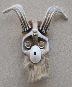 Ocean Goat, by Roger Wheeler. Really great recycled art. The main mask is made from a milk jug.