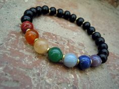 Balance / Chakra Bracelet / Wrist Mala / Yoga Bracelet by Syrena56, $27.00