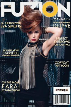 Cidenzi Mori FW12 look 3 on singer Eva Simons on the cover or Fuzion magazine styled by Fatiah Rebbekkah Muhammad.