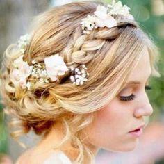 Understated flower crown