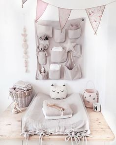 Soft and pink in just the right way. #nursery #estella #decor