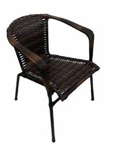 Cadeira Chinesa Em Junco E Ferro Cor Chocolate - R$ 124,90