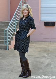 The Small Things Blog: Dress + Boots