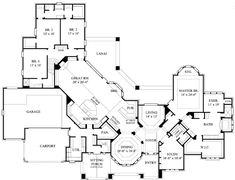 First Floor Plan of Traditional   House Plan 61809