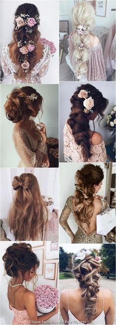 Ulyana Aster Long Wedding Hairstyles Inspiration - www.ulyanaaster.com | Deer Pearl Flowers