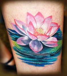 Lotus Flower Tattoos pictures and designs. Free high quality photographs, flash and image designs in our Lotus Flower Tattoos Gallery. Celtic Tattoos and Tribal Tattoos shown also. Lotus Tattoo Design, Pink Lotus Tattoo, Flower Tattoo Designs, Flower Tattoos, Realistic Lotus Tattoo, Lotusblume Tattoo, Cover Tattoo, Rosa Tattoos, Water Lily Tattoos