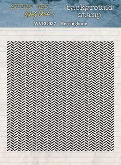 Studio 490 - Wendy Vecchi - new background stamp :: Herringbone.