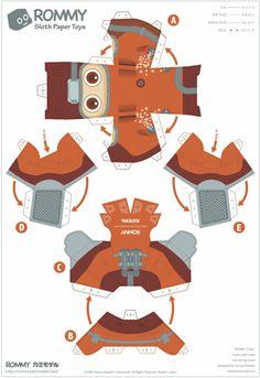 Rommyest un petit robot au faciès enfantincréé par le Japonais Tetsuya Watabe. Décliné dans de nombreuses versions, il existe aujourd'hui des dizaines de Rommy, plus mignons les uns que les autres. Bonne nouvelle : 27 customs sont rassemblés ici !Lire la suitePaper Toys Rommy