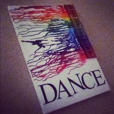 Dance rainbow crayon art