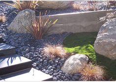 pebble tile half height backsplash - Google Search