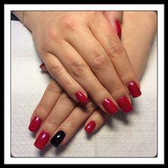 červená a černá