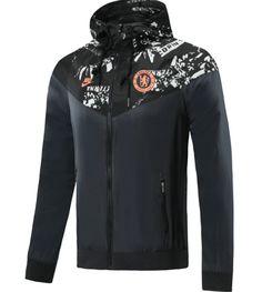 Chelsea 20/21 Black Hoodie Windbreaker – zorrojersey Of Brand, Black Hoodie, Motorcycle Jacket, Adidas Jacket, Chelsea, Windbreaker, 21st, Hoodies, Nike