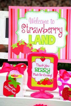 Strawberry Shortcake Birthday, Strawberry Shortcake Recipes, Strawberry Baby, First Birthday Party Themes, Girl Birthday, Birthday Ideas, Birthday Favors, Birthday Decorations, First Birthdays