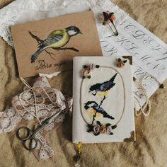 "2,894 вподобань, 4 коментарів – Ellen Tyn (@liskin_dol) в Instagram: «Spring set ""Birds&Roses"" includes an original pencil drawing, a notebook with embroidery and a…»"