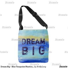 The Future Of Art – Investment Concepts Aqua Blue, Dream Big, Nautical, Abstract Art, Fashion Accessories, Crossbody Bag, Reusable Tote Bags, Turquoise, Color