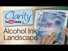 ▶ Stamping How To - Alcohol Ink Landscape - YouTube