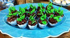 Brotinhos de feijão nascendo nos mini cups!