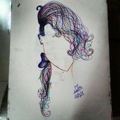 Colour my Hair... - by Zeba Hassan. #colour #hair #art #colourhair #illusionart