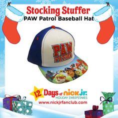 A PAW Patrol baseball hat makes a great stocking stuffer item!