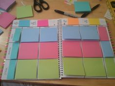 Lesson Plan Book. Pinning this now, look at closer later. This teacher is brilliant! school, lesson planning, colors, teacher plan book, planner, blog, teacher planning, teacher lesson plan books, lesson plans