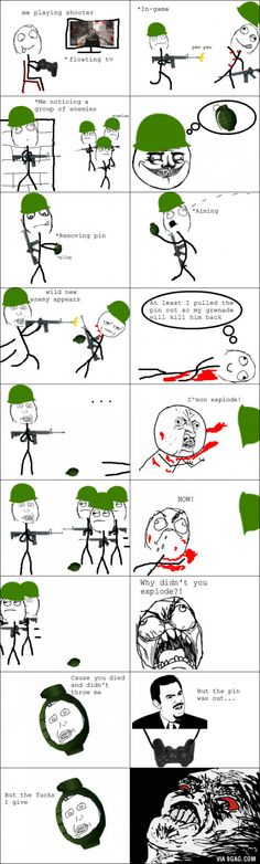 FPS grenade logic