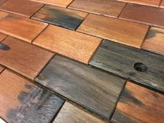 "2x4"" Antique Wood Brick Subway Tile Mosaic Interlocking Sheet Tile Backsplash Accent Wall Tiles"