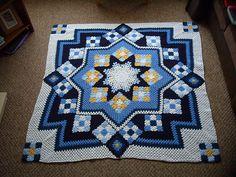 [FREE PATTERN] Patchwork Crochet Blanket