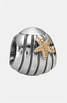 PANDORA Gold & Silver Seashell Charm available at Nordstrom