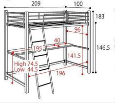 Decorate your room in a new style with murphy bed plans Iron Furniture, Steel Furniture, Furniture Design, Loft Bed Plans, Murphy Bed Plans, Bunker Bed, Bunk Bed With Desk, Murphy Bed Ikea, Steel Bed